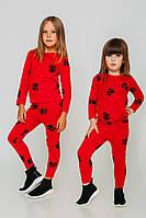 Пижама детская красная с фирменным принтом JoJo