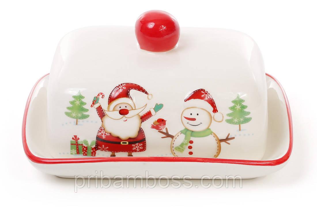 Масленка керамическая Весёлый Санта