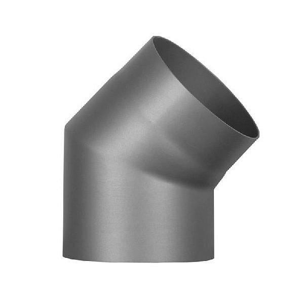 Колено 45° Ø180 мм из черной стали