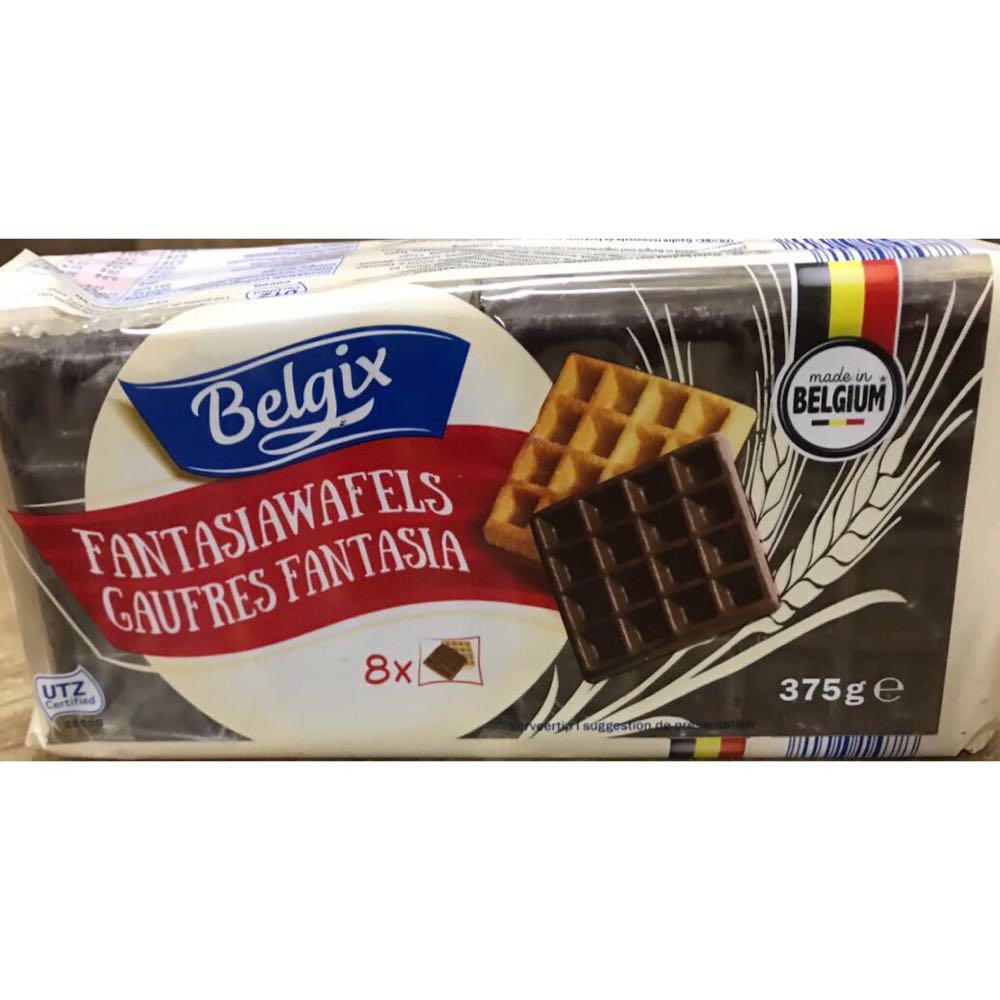 Бельгийские шоколадные вафли Belgix Fantasia Wafels Gaufres 375g