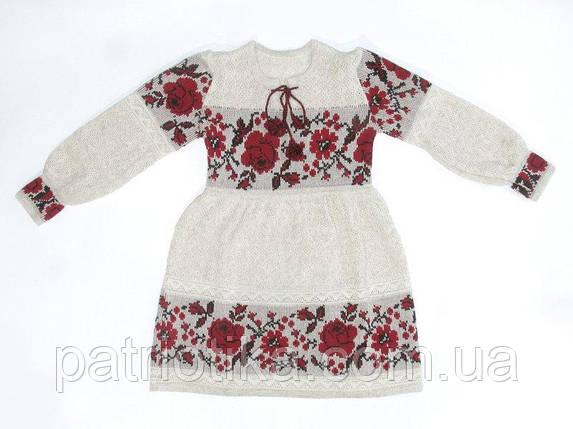 Платье для девочки Роза красная с бутоном   Плаття для дівчинки Троянда червона з бутоном, фото 2