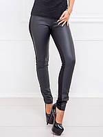 Черные джинсы с кожей