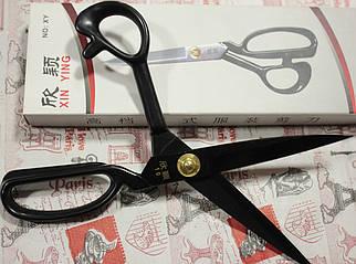 """Ножницы черные с прорезиненной ручкой Xin Ying 10"""""""