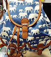 Молодежный тканевый рюкзак Слоны