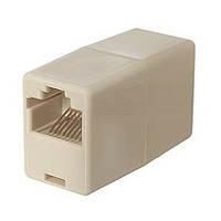 Соединительная коробка RJ45 CAT 5e UTP Соединитель для кабеля витая пара FTP Модуль джойнер Joiner Модуль Соед, фото 1