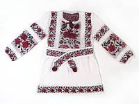 Платье для девочки Роза яркая отрезная х/б   Плаття для дівчинки Троянда яскрава відрізна х/б