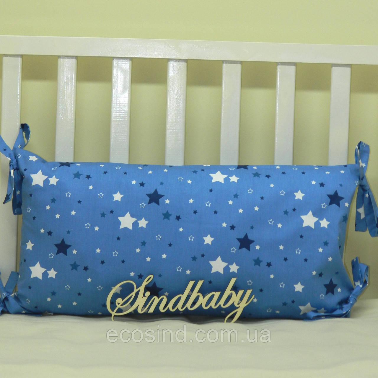 Бортики подушки в кроватку, Подушка сатин 30х60 -02
