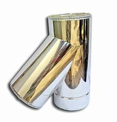 Утепленный сендвич Тройник 45° Ø120/220 мм из нержавеющей стали
