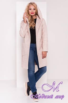 Женское батальное осеннее пальто с капюшоном (р. XL, XXL, XXXL) арт. Анита донна 3467 - 17743, фото 2