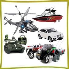 Игрушки на радиоуправлении (катера, машины, вертолеты, танки и прочее)