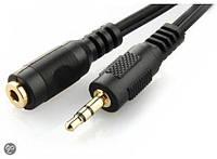 Аудио-кабель Gembird CCA-421S-5M, 3.5мм male/3.5мм female, удлинитель, длина 5м, стерео
