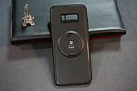 Чехол бампер силиконовый для Samsung Galaxy S8 G950F с подставкой для магнита цвет черный