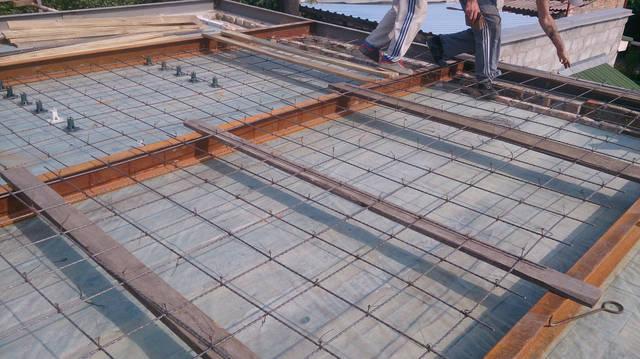Применение стеклопластиковой арматуры для сооружения каркаса армосетки для плиты перекрытия 2