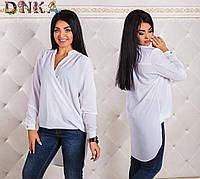 Стильная блуза больших размеров (6 цветов)