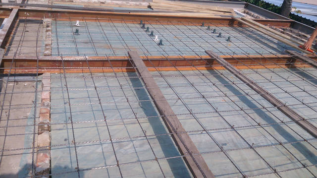 Применение стеклопластиковой арматуры для сооружения каркаса армосетки для плиты перекрытия 3