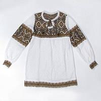 Платье для девочки Влада коричневая х/б | Плаття для дівчинки Влада коричнева х/б