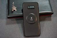 Чехол бампер силиконовый для Samsung Galaxy S8+ S8 PLUS G955F с подставкой для магнита цвет черный
