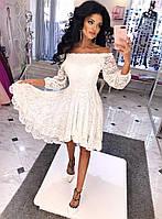Платье нарядное Ткань: кружево на подкладке черный, красный, электрик, марсала, белый, персик дпог №8989