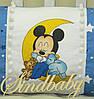 Защитные бортики из сатина для детской кроватки -02, фото 7