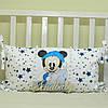 Защитные бортики из сатина для детской кроватки -02, фото 8