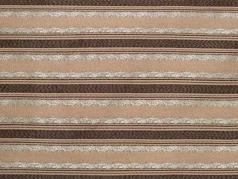 Обивочная ткань для мебели полосатая Ажур страйп браун Ajur stripe brown