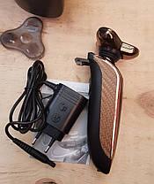 Электробритва роторная с триммером Gemei GM-8010 (аккумуляторная), фото 2
