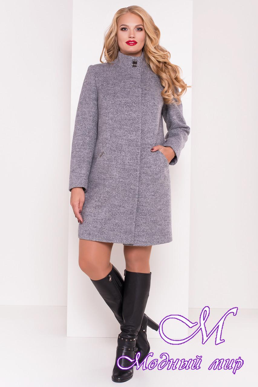 Стильное осеннее пальто большого размера (р. XL, XXL, XXXL) арт. Сплит Донна 3290 - 16812
