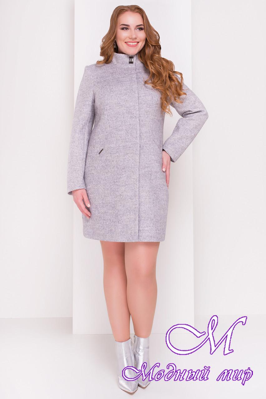 Стильное демисезонное пальто большого размера (р. XL, XXL, XXXL) арт. Сплит Донна 3290 - 16813