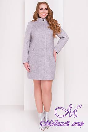 Стильное демисезонное пальто большого размера (р. XL, XXL, XXXL) арт. Сплит Донна 3290 - 16813, фото 2
