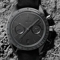 Часы Omega Speedmaster Dark Side Of The Moon Black Black копия мужские, фото 1