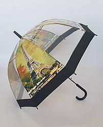 Зонтик трость прозрачный