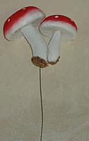 """Искусственные грибы """"семейка"""" мухоморы красные большие"""