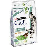 Cat Chow® (Кет Чау). С курицей. Сухой корм для взрослых стерилизованных кошек/кастрированных котов 1,5кг
