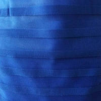 Тюль фатин синий с полосками