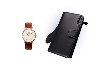 Мужское портмоне Baellerry Business+ Часы в Подарок