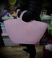 Корзинка-сумка пластиковая плетеная