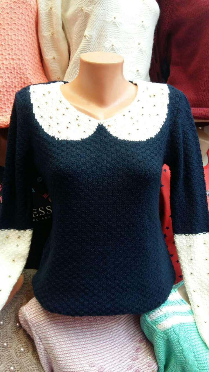 Красивая женская вязанная ажурная кофточка 44-48, наличие цветов уточняйте