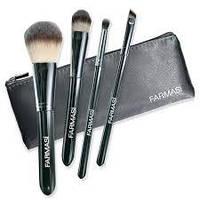 """9700278 Farmasi. Набор кисточек для макияжа с косметичкой """"Черный"""". Фармаси 9700278"""