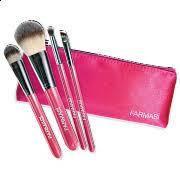 """9700277 Farmasi. Набор кисточек для макияжа с косметичкой """"Розовый"""". Фармаси 9700277"""