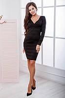 Женское платье ткань трикотаж резинка черное