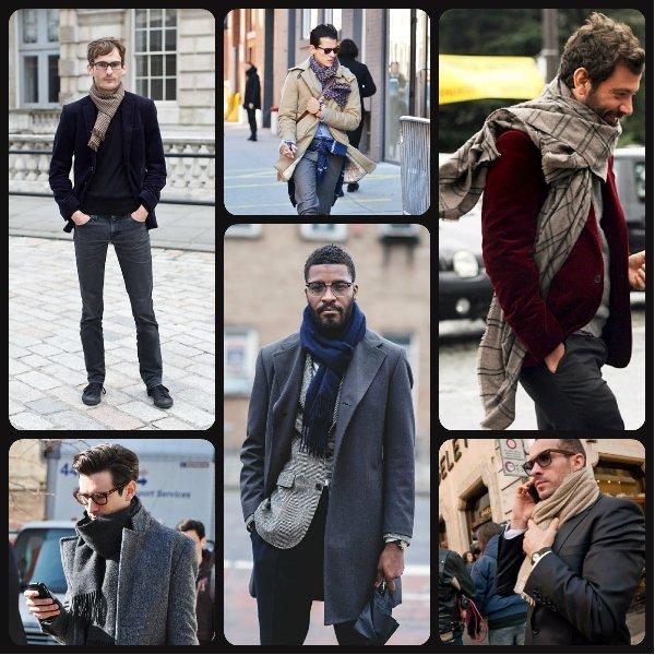 Фото способы ношения мужских шарфов 1