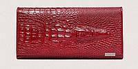 Кожаный женский кошелек - Aligator красный, фото 1