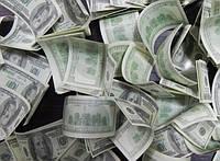 Конфетти Доллары Баксы Купюры, 3х6 см, 200 грамм