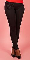 Лосины женские байка большого размера чёрного цвета