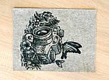 Фетр с принтом ФОТОАППАРАТ 1, 33x25 см, китайский жесткий 2 мм, фото 2