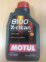 Синтетическое моторное масло MOTUL 8100 X-clean 5W-30 1л. ― производства Франции