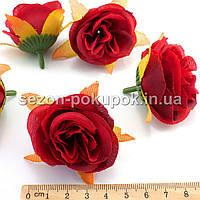 "Головы цветов ""Роза"" d=4,5см, цена за 10 шт, цвет - Красный"