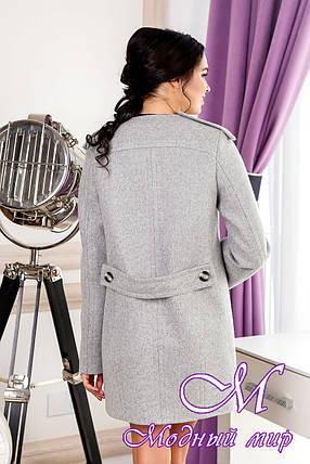 Красиве жіноче осіннє пальто (р. 44-54) арт. 1013 Тон 4 сірий, фото 2