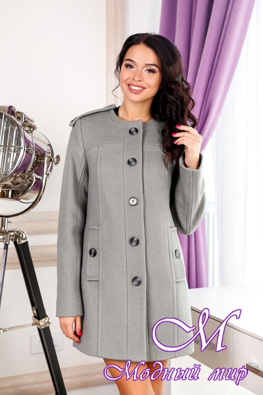 Женское теплое демисезонное пальто (р. 44-54) арт. 1013 Тон 76
