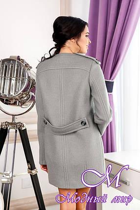 Женское теплое демисезонное пальто (р. 44-54) арт. 1013 Тон 76, фото 2